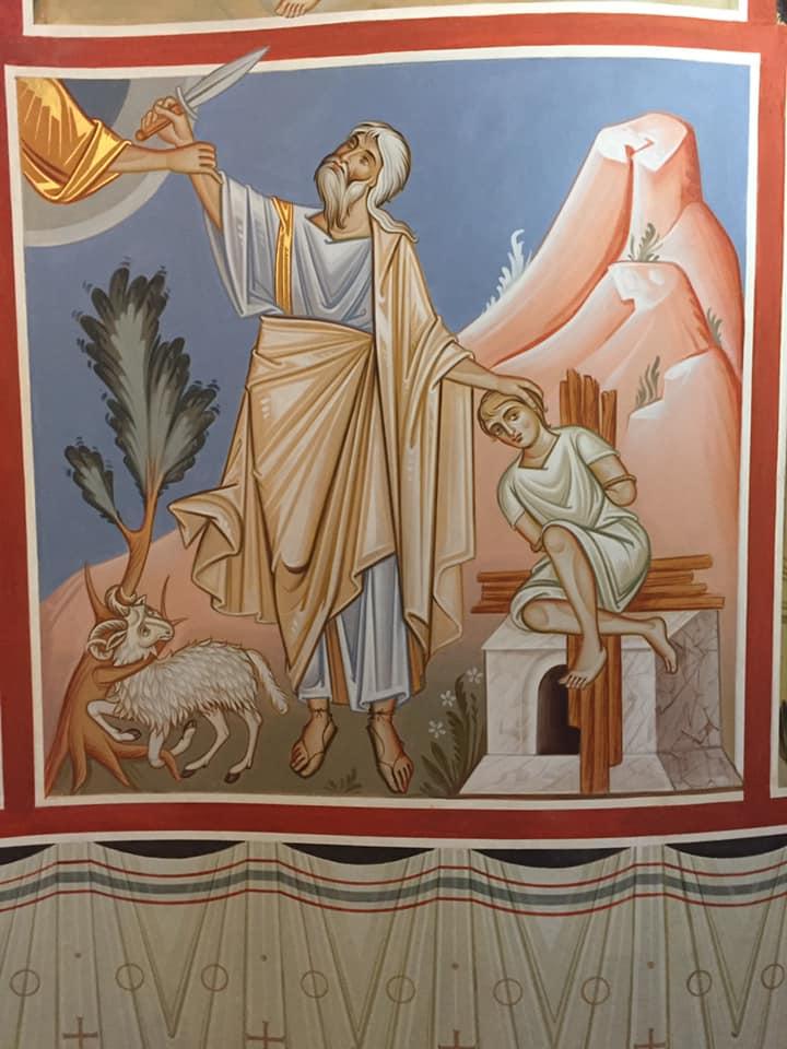 """Ma l'angelo del Signore lo chiamò dal cielo e gli disse: """"Abramo, Abramo!"""". Rispose: """"Eccomi!"""". L'angelo disse: """"Non stendere la mano contro il ragazzo e non fargli niente! Ora so che tu temi Dio e non mi hai rifiutato tuo figlio, il tuo unigenito"""" (genesi, 22, 11 - 12)"""