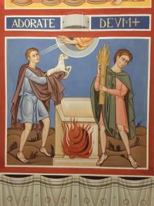 Caino presentò frutti del suolo come offerta al Signore, mentre Abele presentò a sua volta primogeniti del suo gregge e il loro grasso. Il Signore gradì Abele e la sua offerta, ma non gradì Caino e la sua offerta (Genesi, 4, 3 - 5)